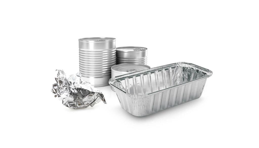 A variety of aluminium objects