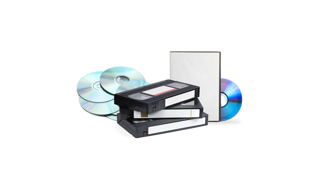 DVDs, CDs and video tapes