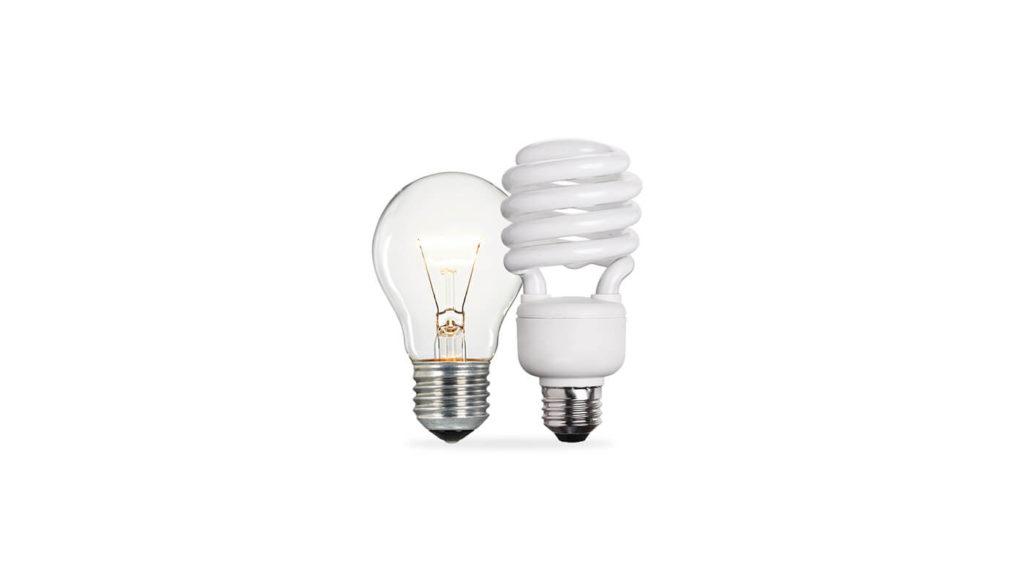 Filament and energy saving light bulbs