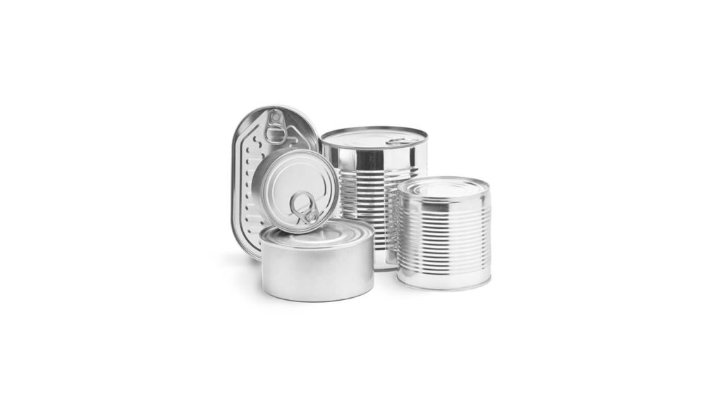 Variety of tins and cans
