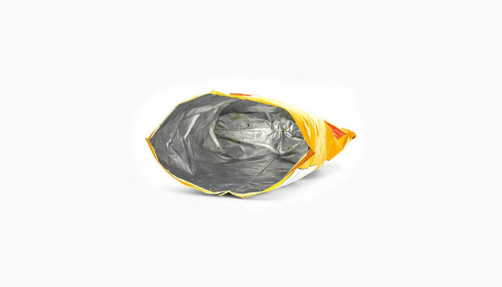 Empty crisp packet
