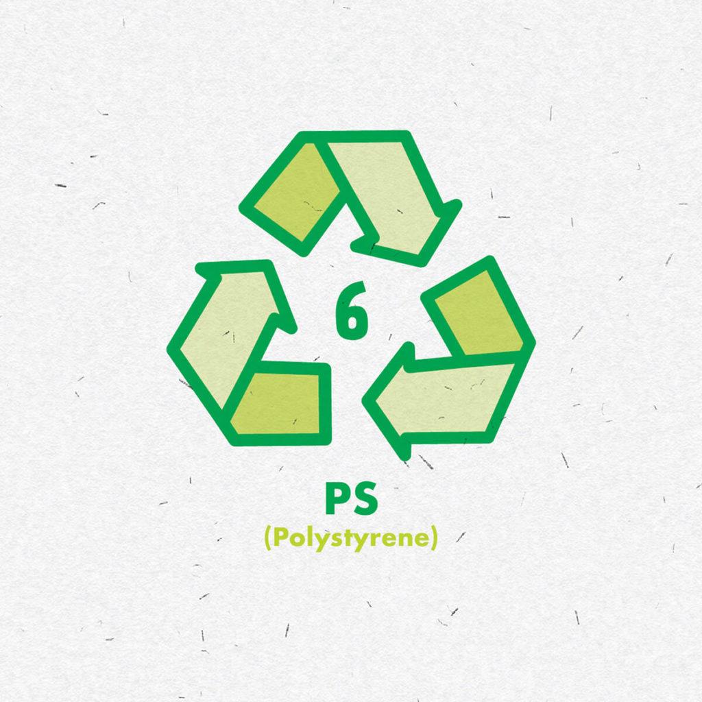 Plastic polystyrene icon