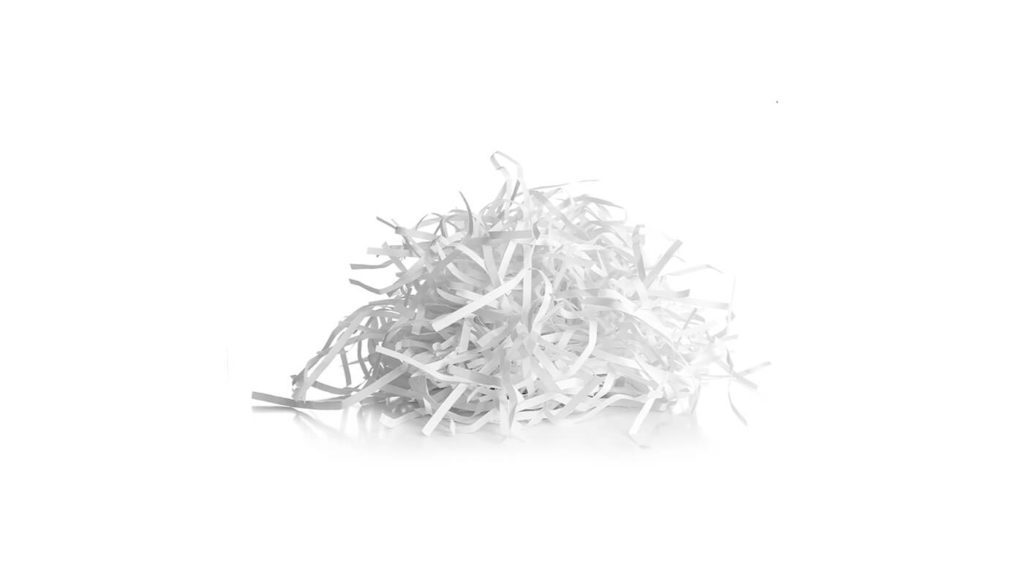 Pile of shredded paper